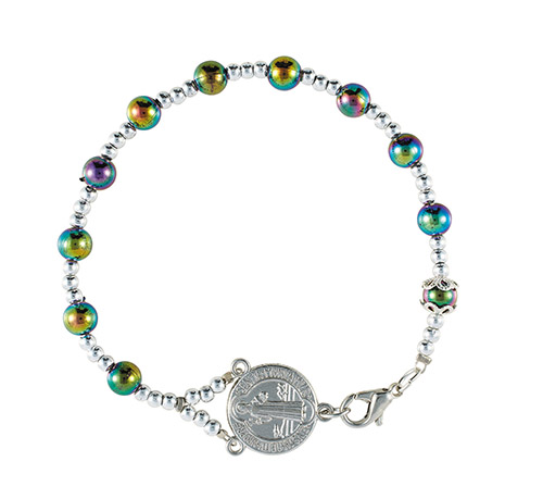 St. Benedict AB Crystal Rosary Bracelet