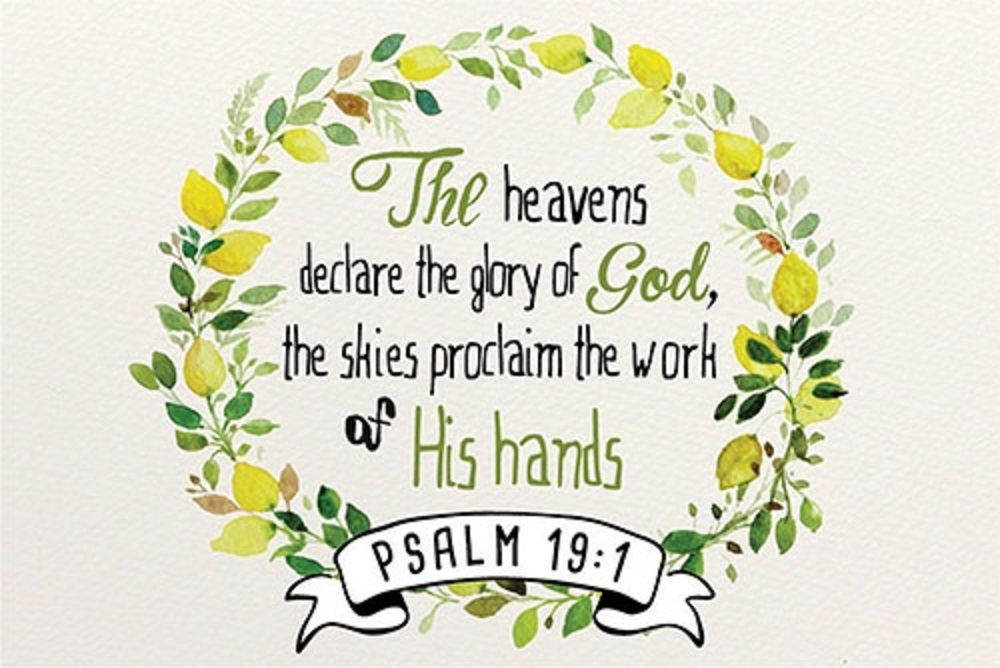 Pass It On - Heavens Declare Bible Verse Card