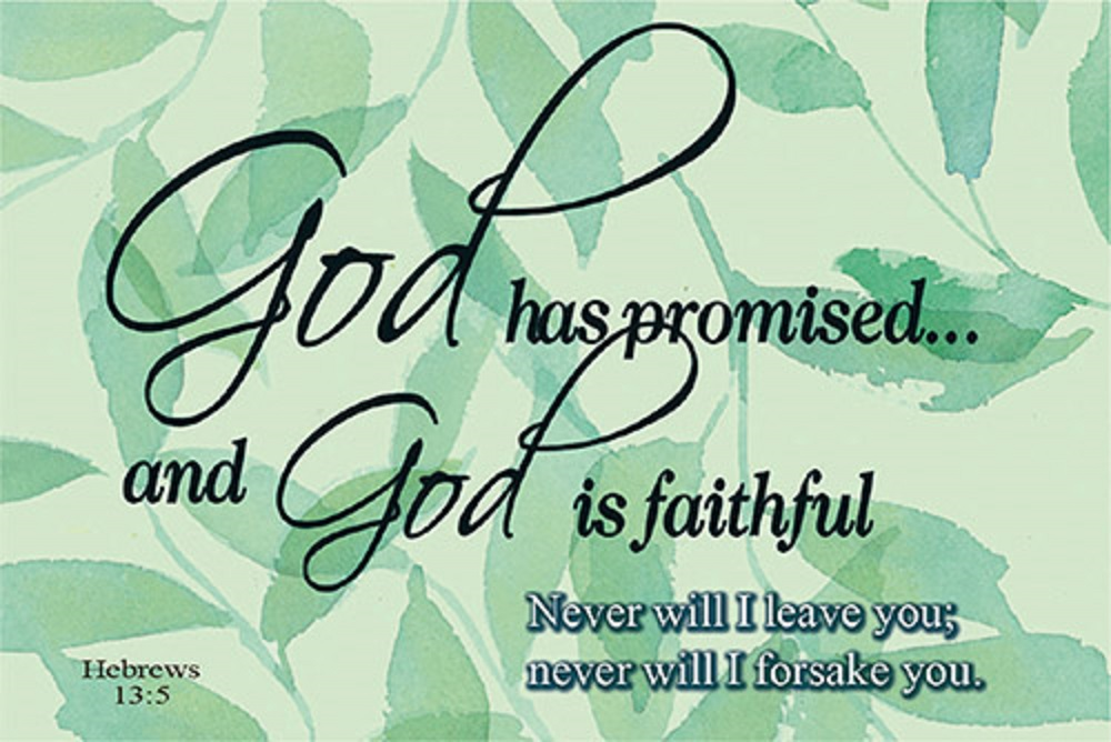 Pass It On - God Has Promised Bible Verse Card