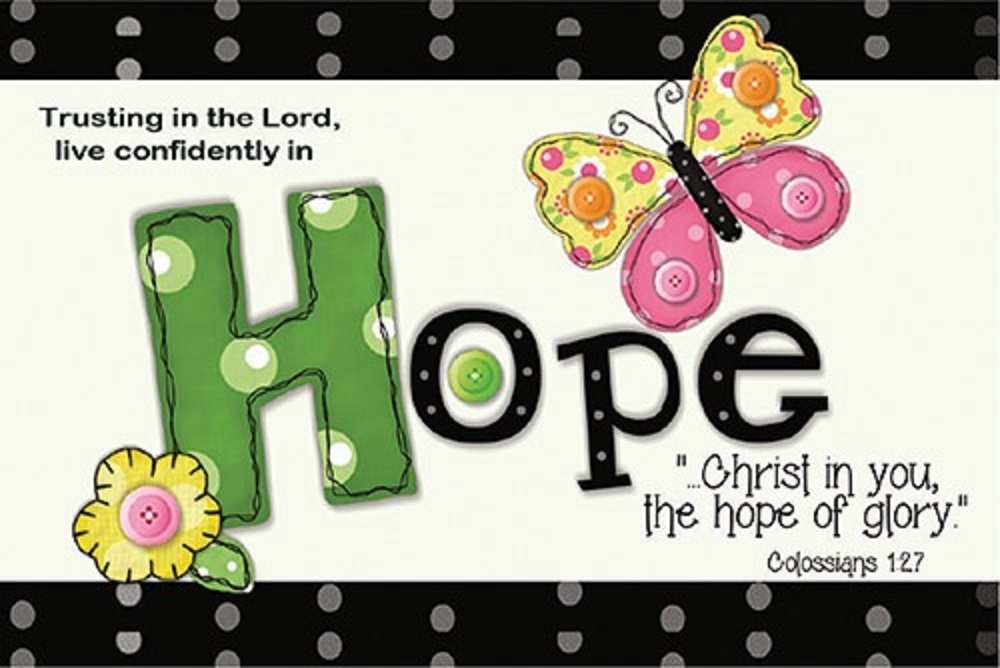 Pass It On - Hope Bible verse card