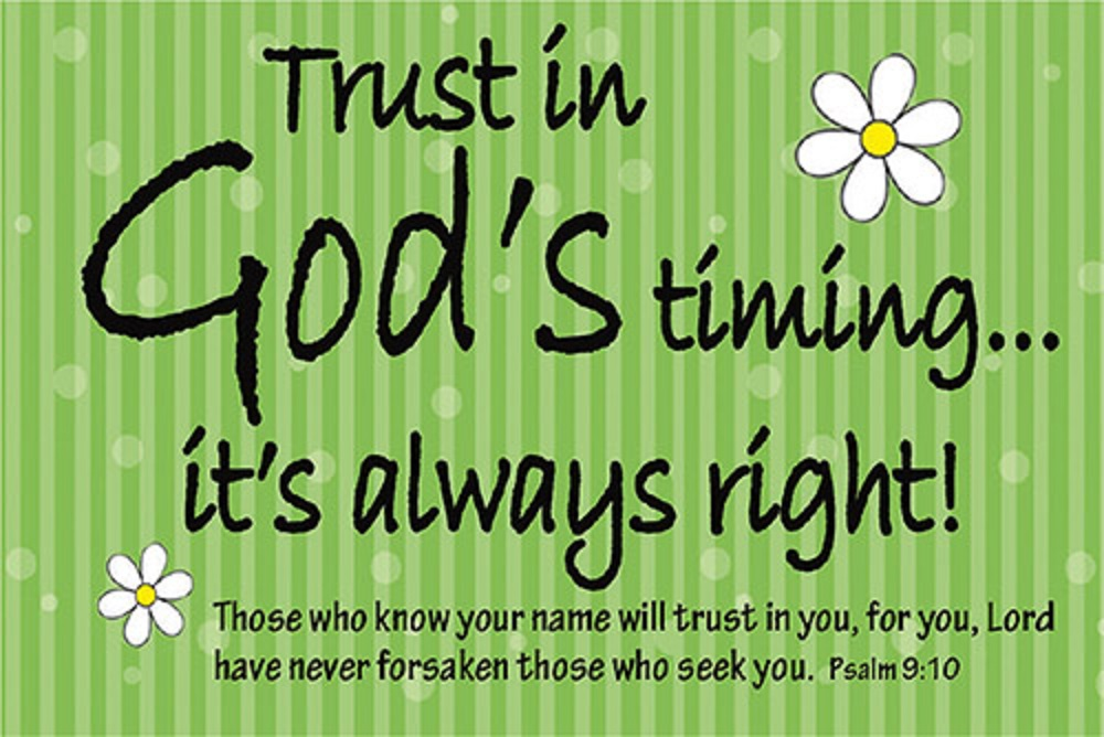 Pass It On -  Gods Timing Bible Verse Card