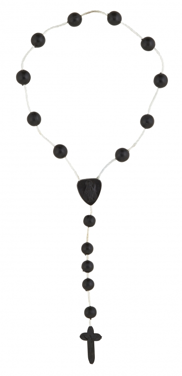 Black One Decade Cord Rosary