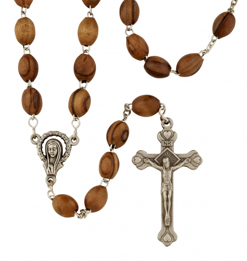Olive Wood rosary made in Italy