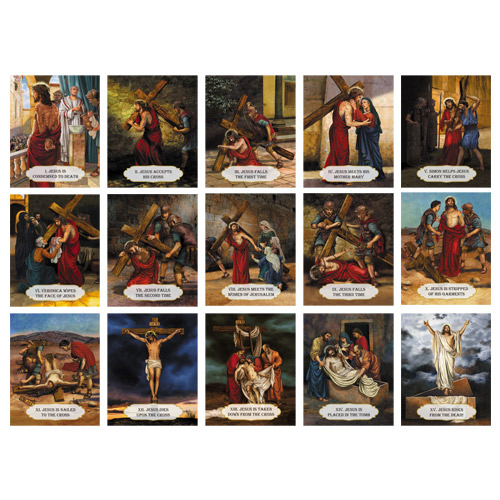 Full Set of Stations of the Cross wall prints