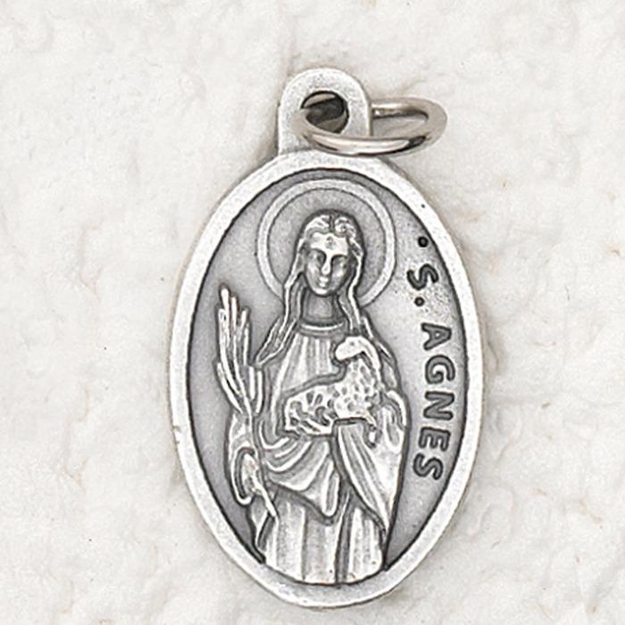 728b4d243b4 Oxidized Patron Saint Medals, Agnes