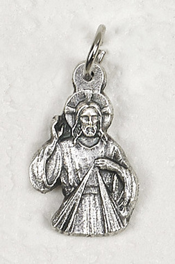 Divine Mercy Jesus tiny charm medallion