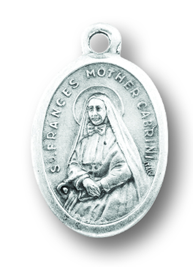 St. Frances Cabrini relic medal