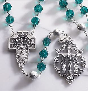 Deluxe version Our Lady of Guadalupe Rosary