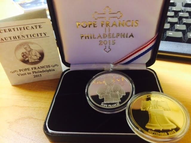 Pope Francis Commemorative Medallion Sterling Silver Coin