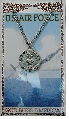 Service Prayer card medal set, Air Force