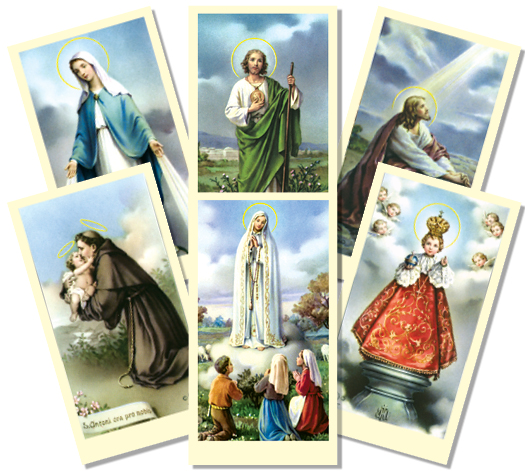 Assorted Paper Holy Card Collection