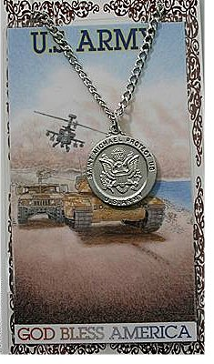 Service Prayer card medal set, Army