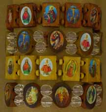 Religious Images bracelet assortment of 5