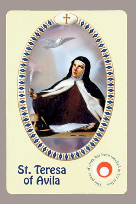 New Italian Relic Card - Teresa of Avila