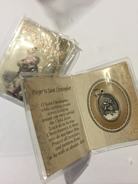 Carded St. Christopher medals - buy 1 get 1 free