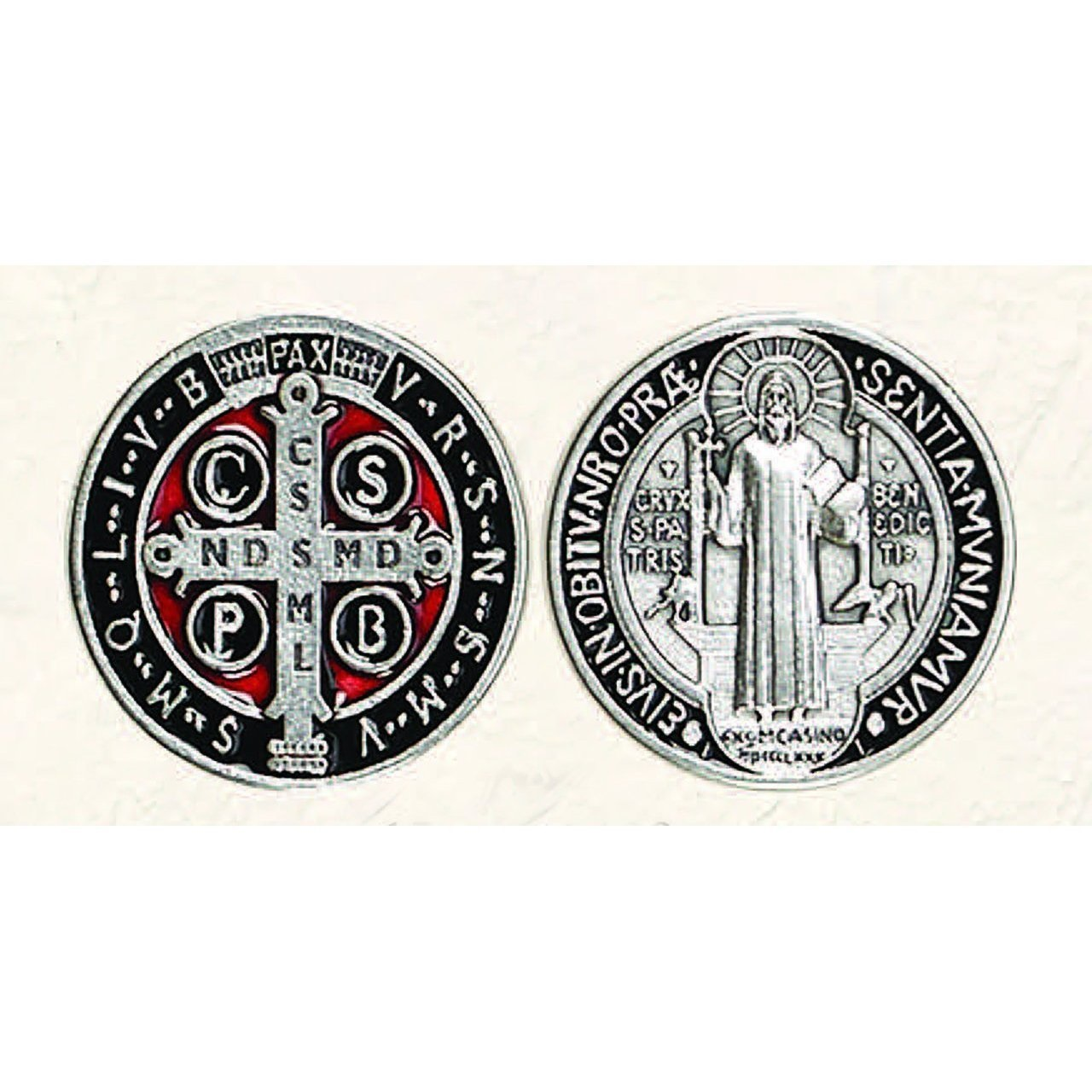 St. Benedict Red and Black Pocket Coin