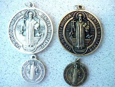 Large 2 diameter St. Benedict Medallion
