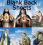 Blank Back holy card Sheets