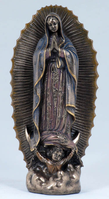 Large Bronze Guadalupe Statue