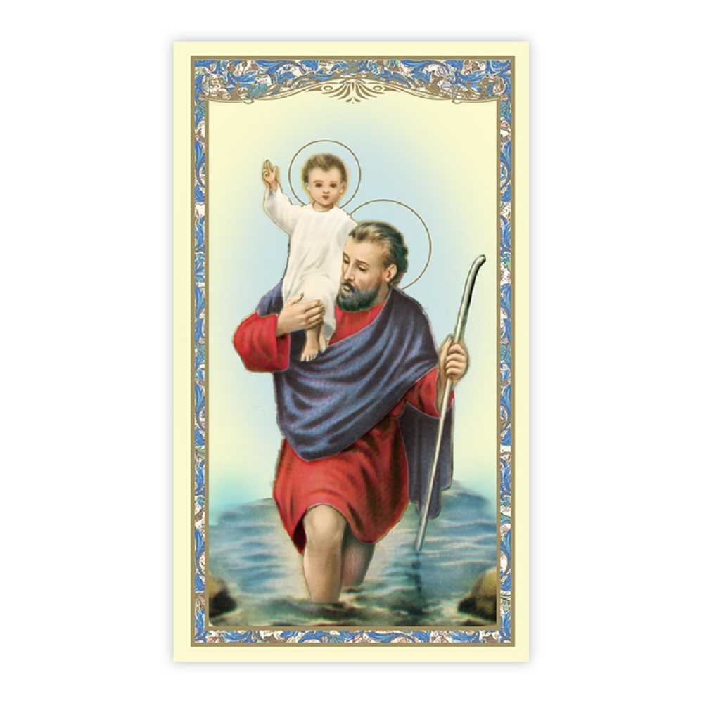 Paper Holy Card, St. Christopher