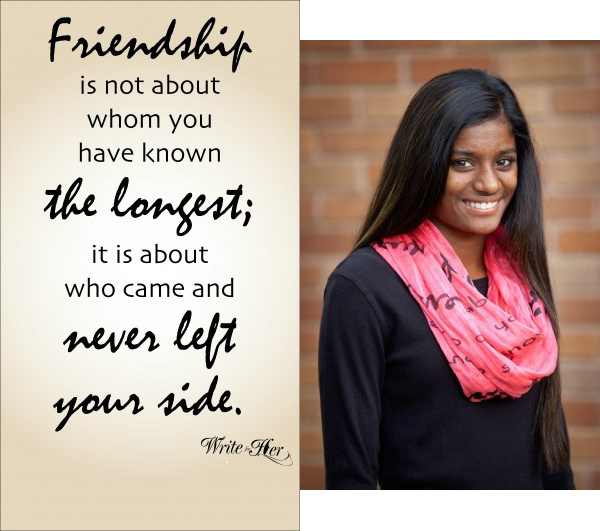 Friendship Quote Scarf in Watermellon color