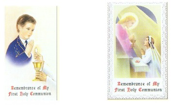 Paper Holy Card, Boy First Communion