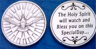 Confirmation Holy Spirit pocket coins