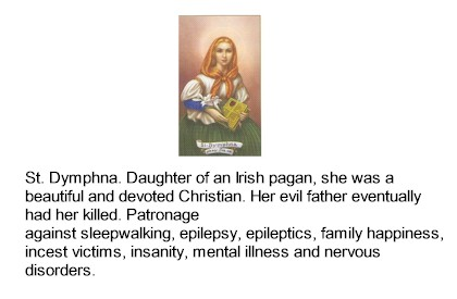 St. Dymphna Italian Relic Holy cards