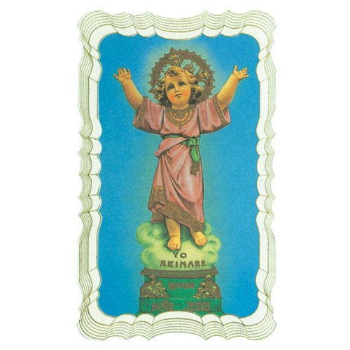 Divine Child Gold Embossed Holy Card