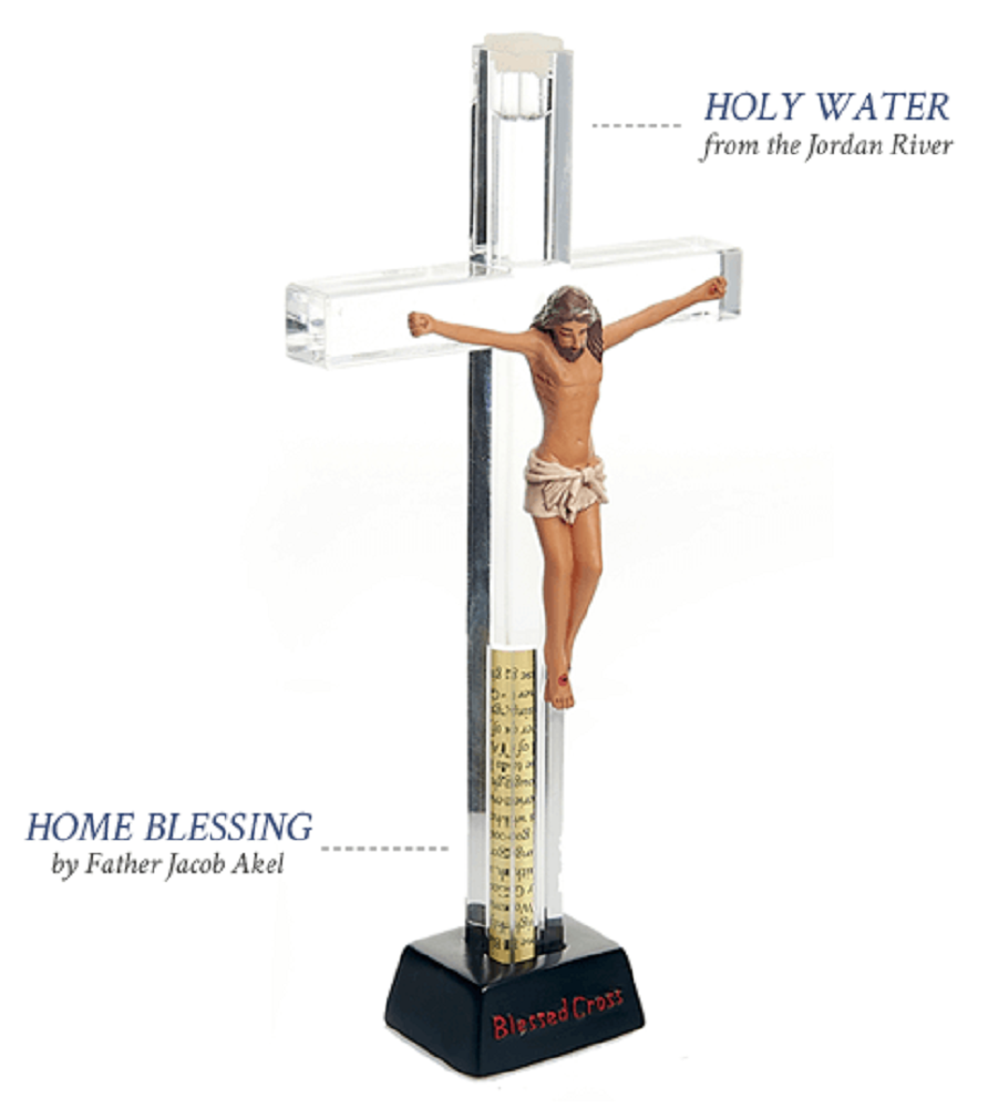 Unique My Blessed Free Standing Crucifix