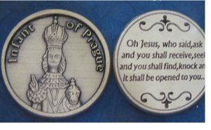 Infant of Prague pocket coins
