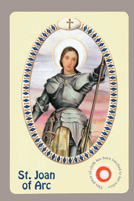 New Italian Relic Card - Joan of Arc