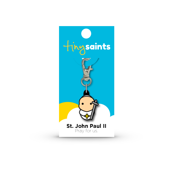 St. John Paul II Tiny Saints Charm