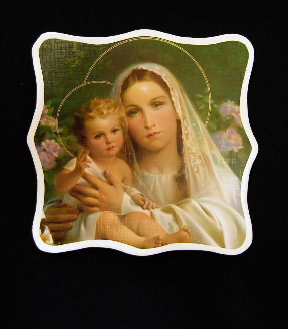 Lilly Madonna and Child by Simeone Plaque