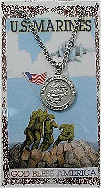 Service Prayer card medal set, Marine