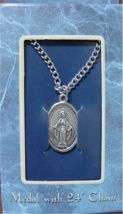 Miraculous medal, boxed on chain