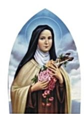 Laminated Holy Card, St. Therese