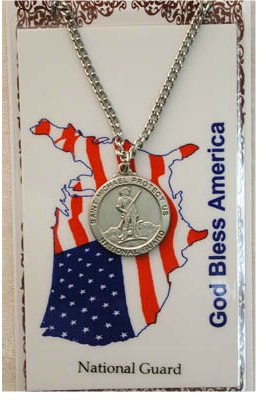 Service Prayer card medal set, National Guard