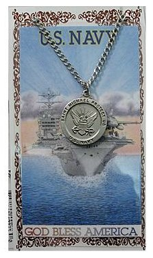 Service Prayer card medal set, Navy