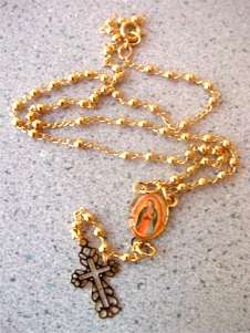 Rosary necklace made from an actual rosary!