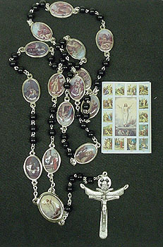 Stations of the Cross Chaplet Gift Set - Black