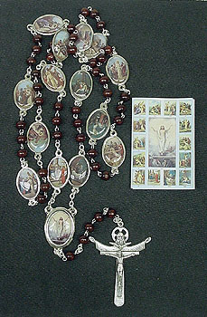 Stations of the Cross Chaplet Gift Set - Brown