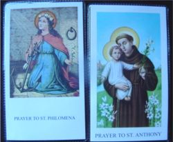 St. Anthony Relc holy cards