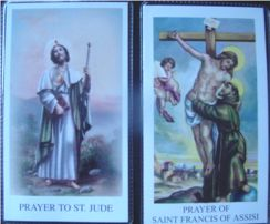 St. Francis Paper Holy Card