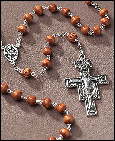 San Damiano Brown Wood Rosary