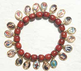 New! Saints Medals Bracelets, red wood