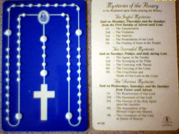 Credit Card Rosary